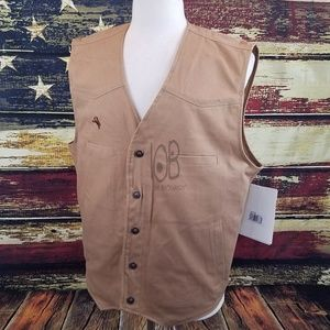 MENS TEXAS CONCEALED CARRY CANVAS VEST - TALL